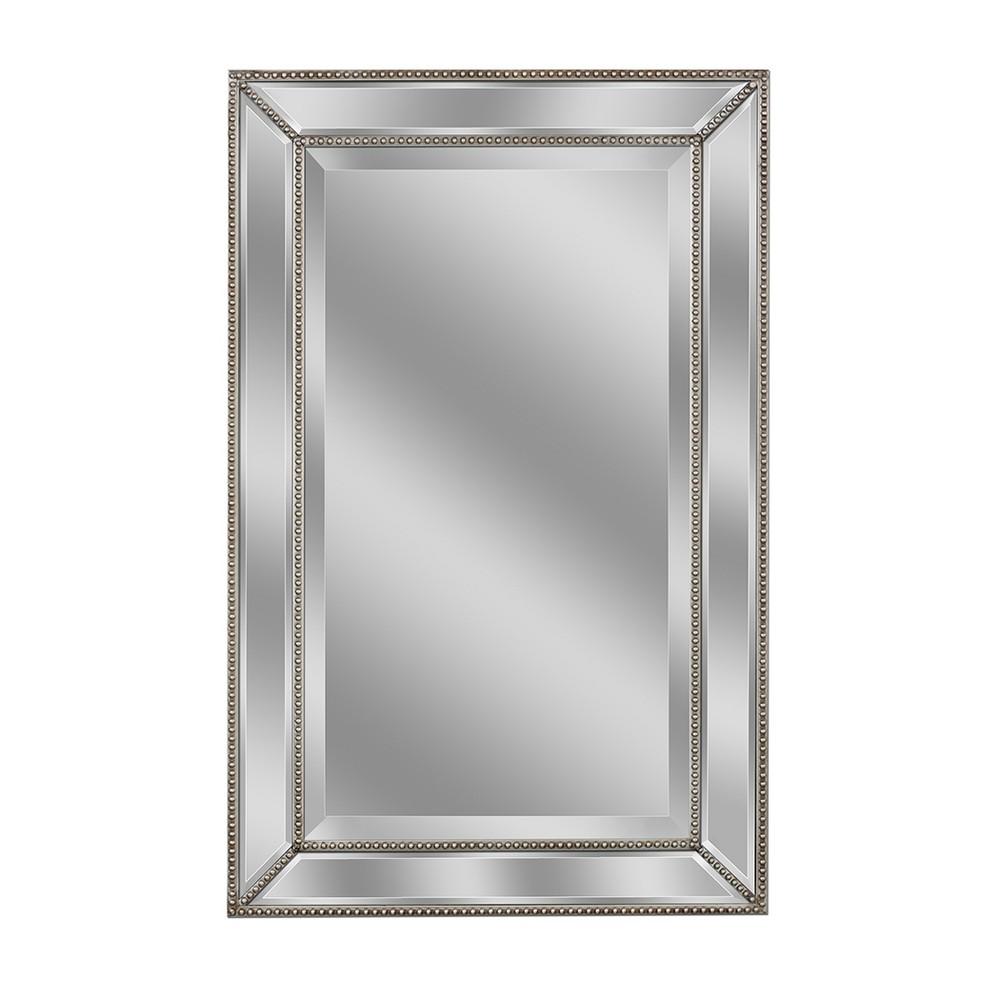 Metro Beaded Mirror 20x32 - Head West, Multi-Colored