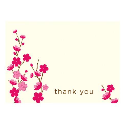 50ct Cherry Blossom Design Thank You Cards Gartne Target