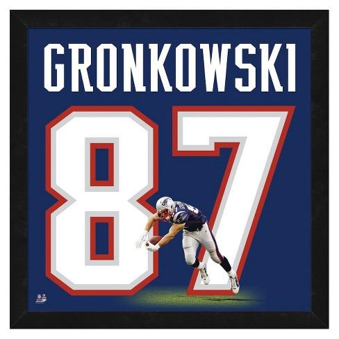 sports shoes e3073 140fb New England Patriots Uniframe® Rob Gronkowski Framed Print
