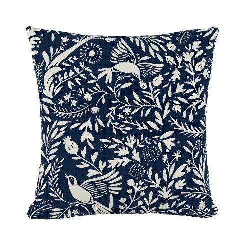 Navy Bird Print Throw Pillow - Skyline Furniture - image 1 of 4
