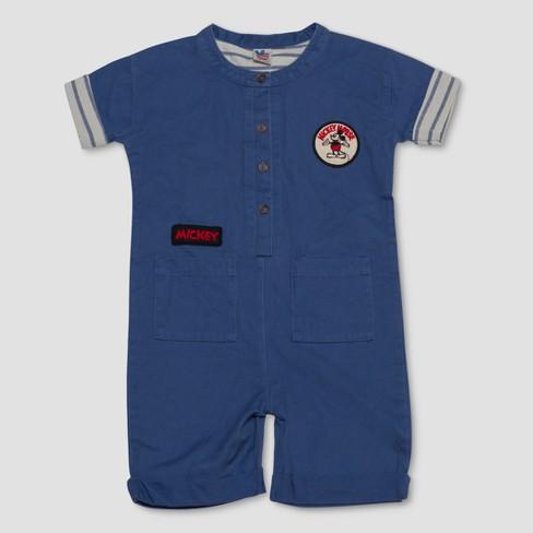 533625e75 Junk Food Toddler Boys' Disney Mickey Mouse Romper - Blue : Target