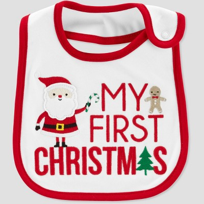 Baby's My First Christmas Bib - Just One You® made by carter's White