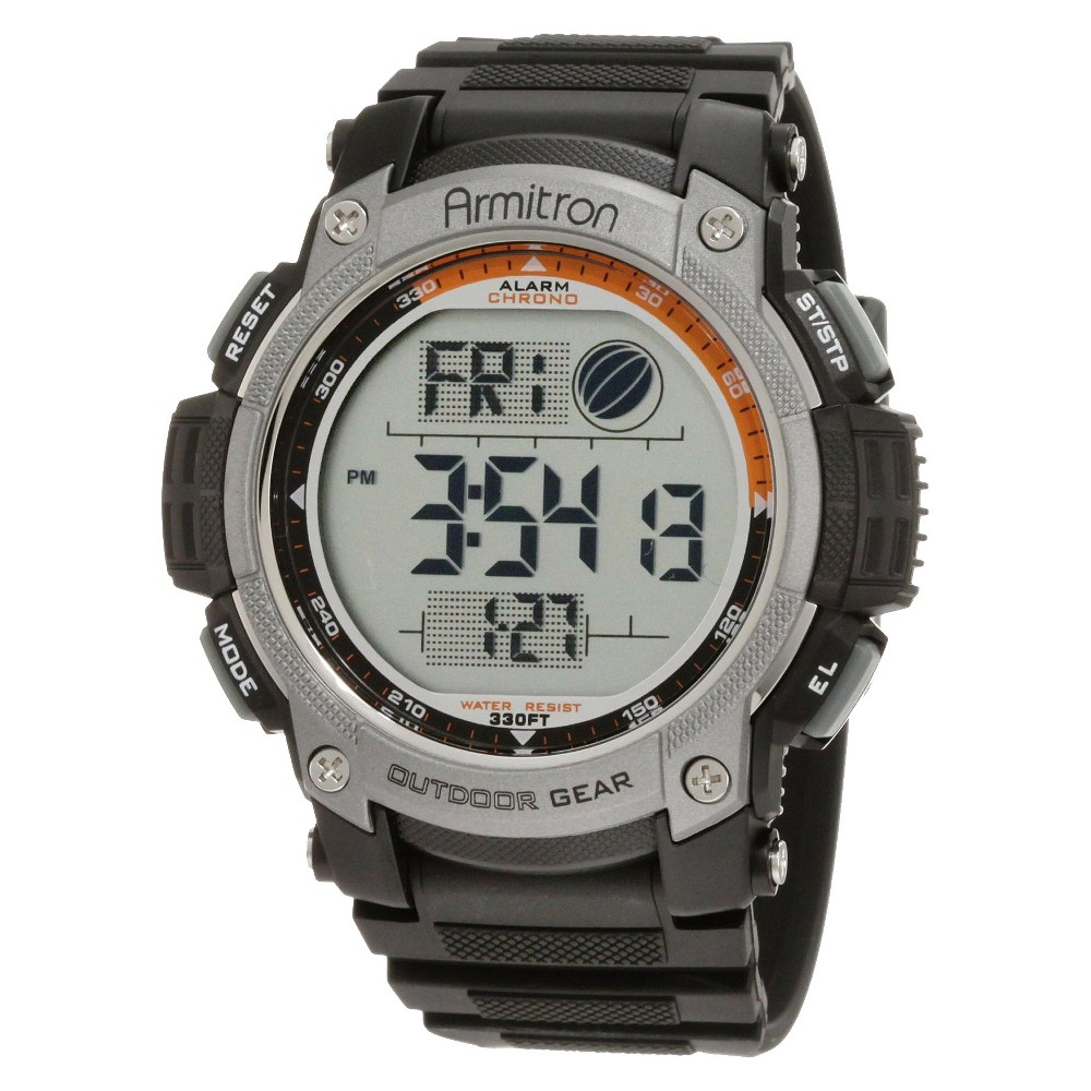 Image of Armitron Men's Digital Chronograph Sport Watch - Black, Men's, Size: Small, Gray Black