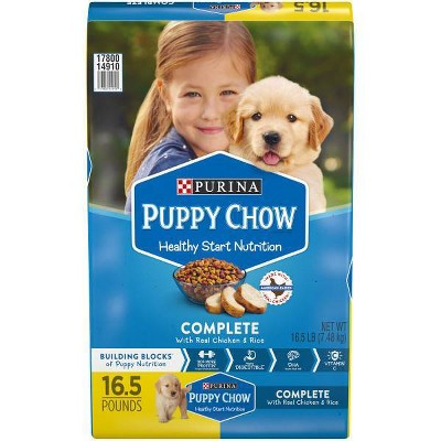Purina Puppy Chow with Real Chicken & Rice Complete Dry Dog Food