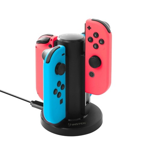 Insten Joy Con Charger for Nintendo Switch , 4 in 1 Joy-Con Charging Dock Station with Individual LED Charge Indicator for Switch JoyCon Accessories - image 1 of 4