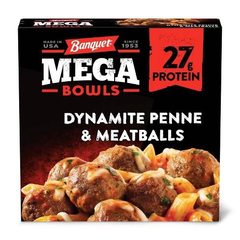 Banquet Mega Bowls Frozen Dynamite Penne & Meatballs - 14oz - image 1 of 3