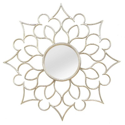 "24"" Francesca Wall Mirror Silver - Stratton Home Décor"