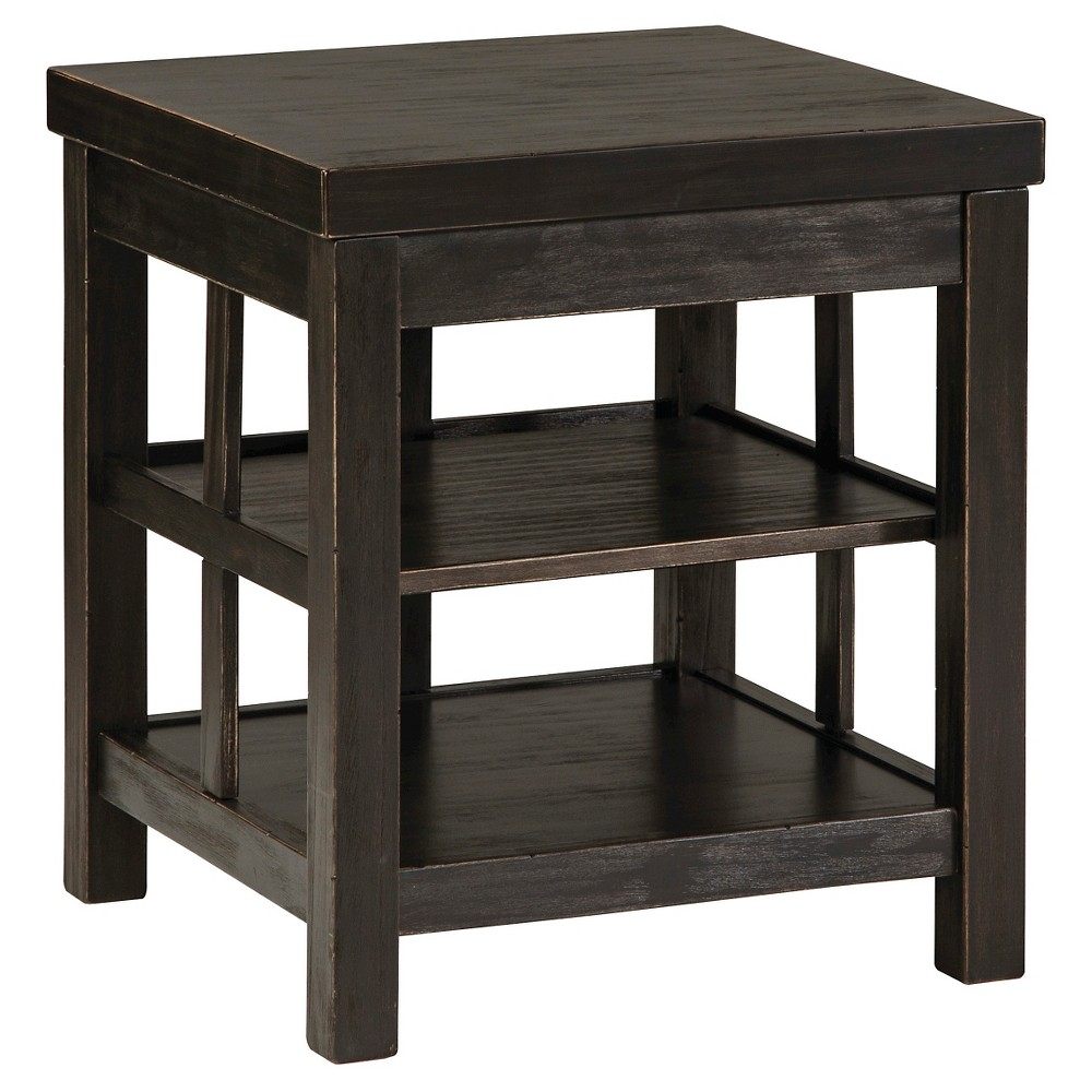 Gavelston Square End Table - Rubbed Black - Signature Design by Ashley