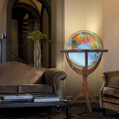 "20"" Geneva Illuminated World Globe Blue Ocean - Waypoint Geographic"