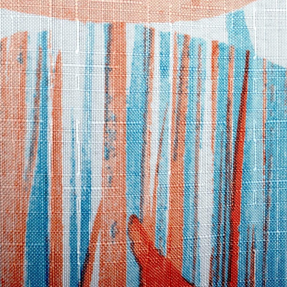 Carpe Diem Shower Curtain Blue Orange Moda At Home