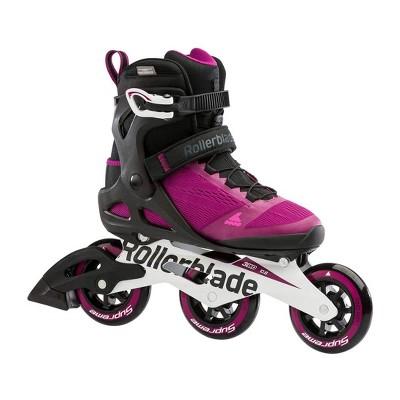 Rollerblade Macroblade 100 3WD Women's Adult Fitness Outdoor Roller Inline Skate Size 8, Adjustable, Violet and Black
