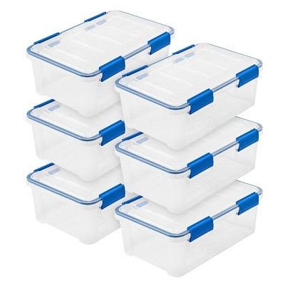 IRIS 16qt 6pk Weather Tight Storage Box Clear