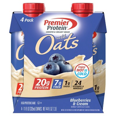 Premier Protein Shake - Oats, Blueberries & Cream - 4pk/44 fl oz
