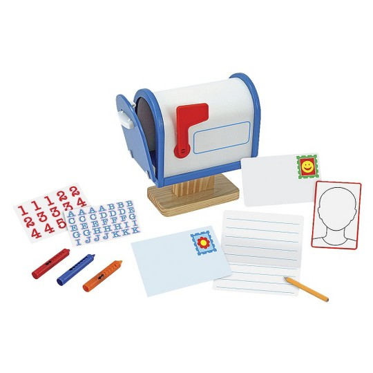 Melissa & Doug My Own Wooden Mailbox Activity Set and Educational Toy image number null