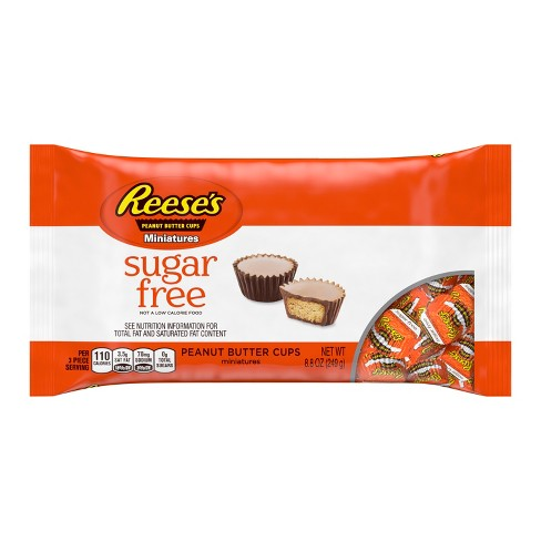 Reese's Peanut Butter Cups Miniatures Sugar Free - 8.8oz - image 1 of 3
