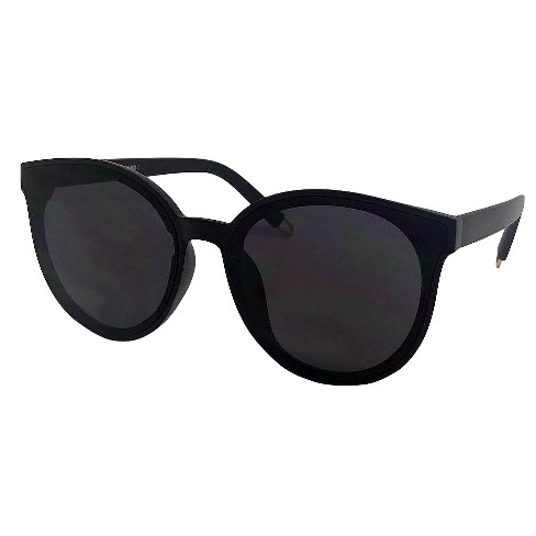 New Women's Black Round A Day™ Sunglasses shrtCQd