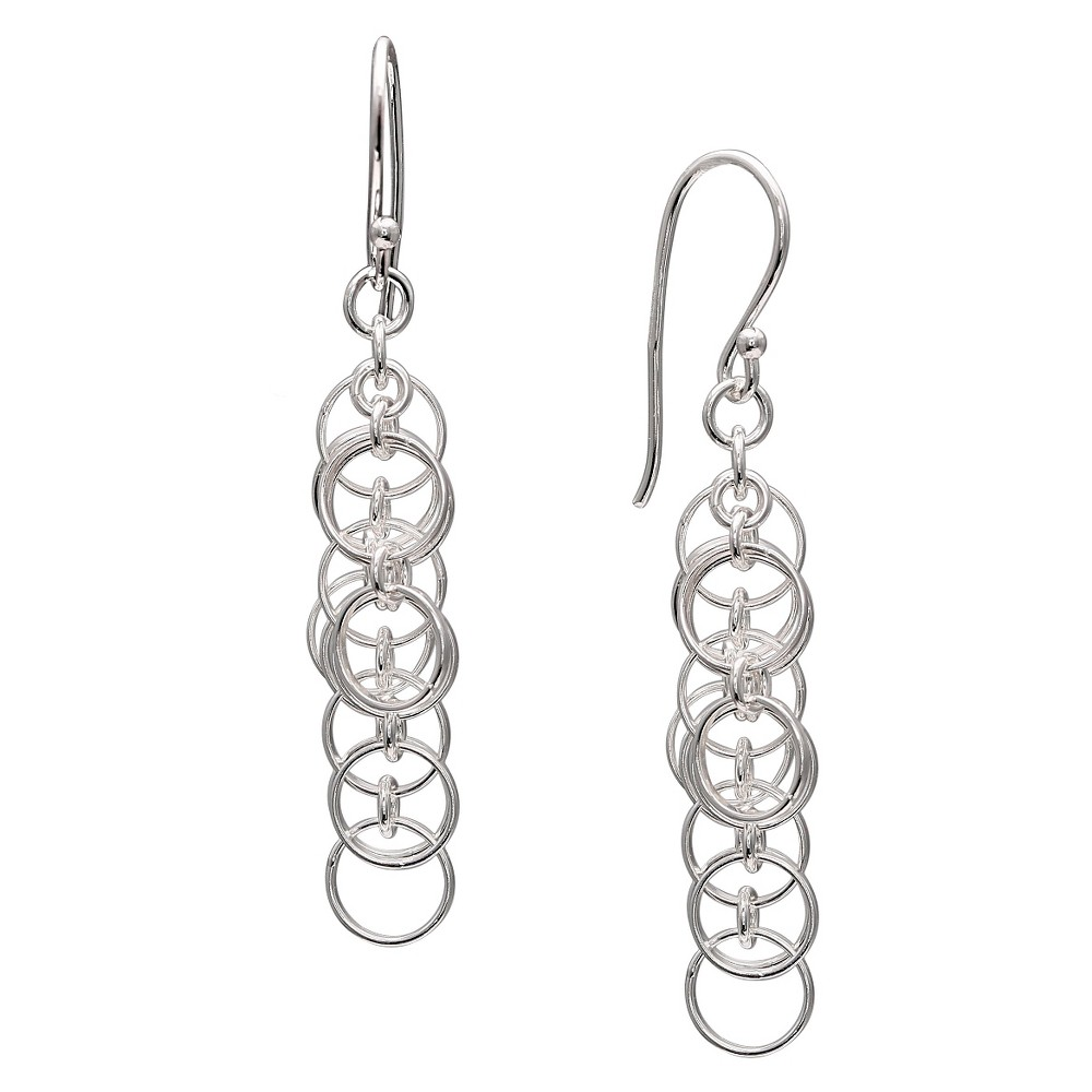 Polished Multiple Drop Earrings in Sterling Silver - Gray (1.6)