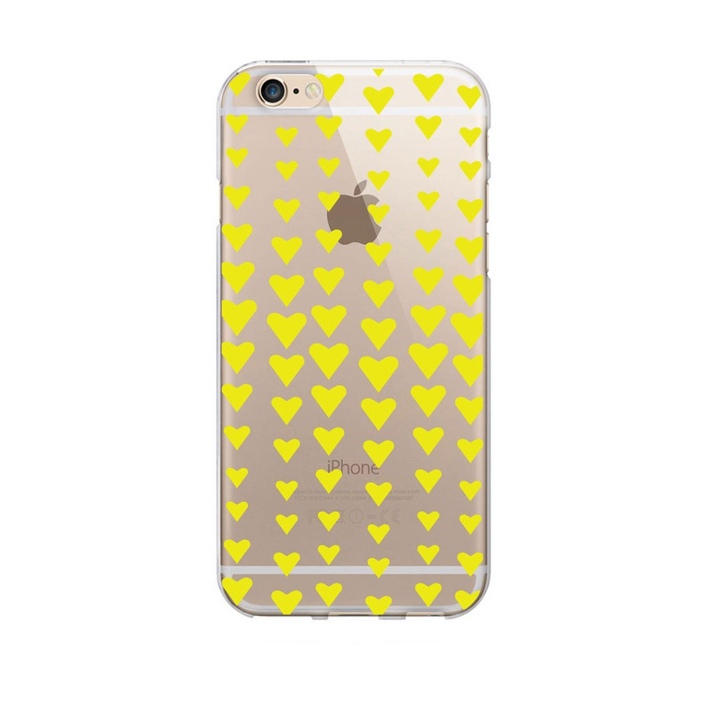 Apple iPhone 8/7/6s/6 Case Falling Yellow Hearts - Otm Essentials