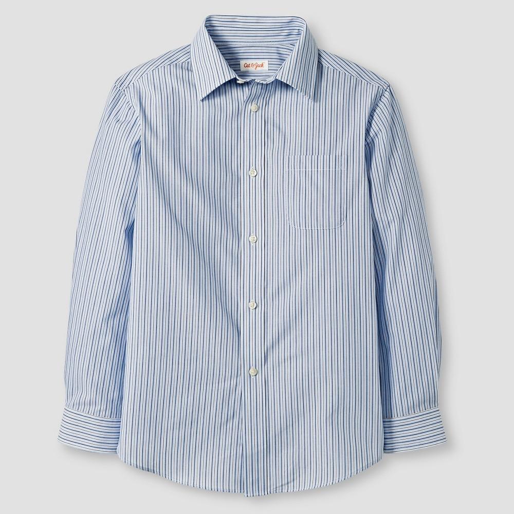 Boys' Button-Down Shirt - Cat & Jack Blue Stripe XL
