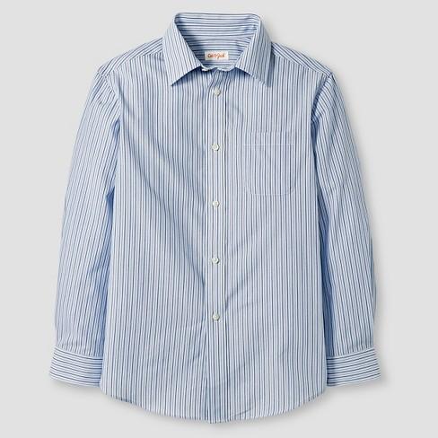 b47f0f875cd4d Boys  Button-Down Shirt - Cat   Jack™ Blue Stripe S   Target
