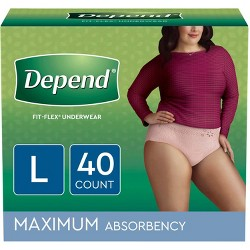 Depend Fit-Flex Incontinence Underwear Maximum Absorbency - Large