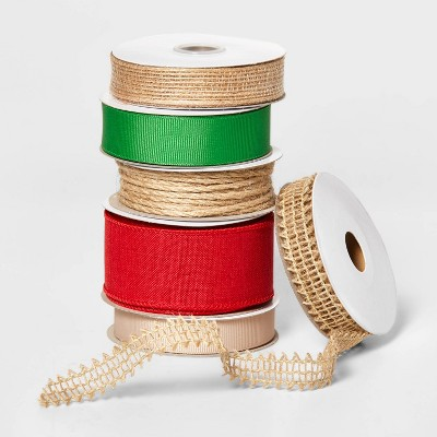 Fabric Ribbon 6 End x 150ft Natural - Wondershop™