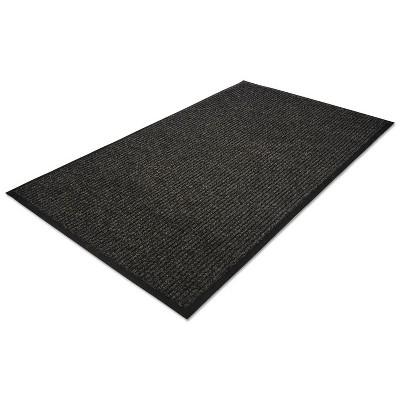 4'x6' Rectangle Solid Floor Mat Black - Guardian