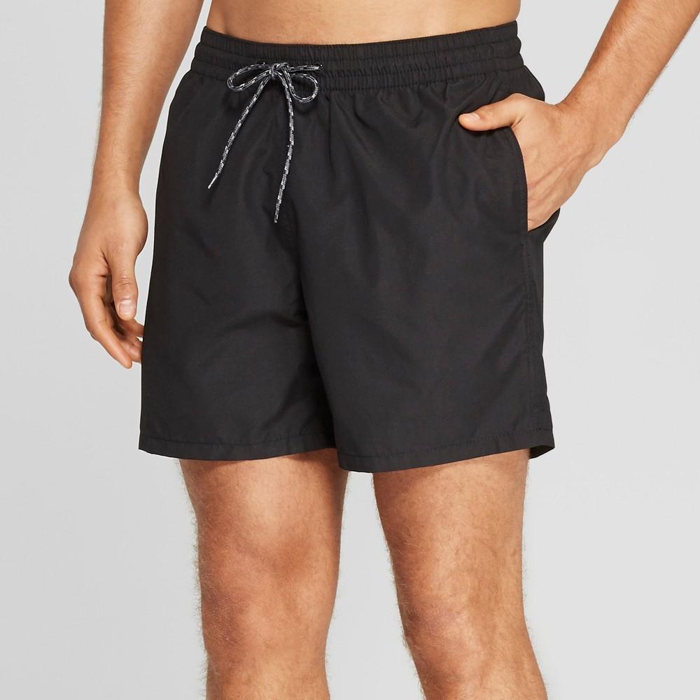 Men's 6 Swim Trunks - Goodfellow & Co Black S