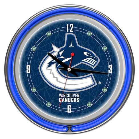 Vancouver Canucks Neon Wall Clock - image 1 of 1