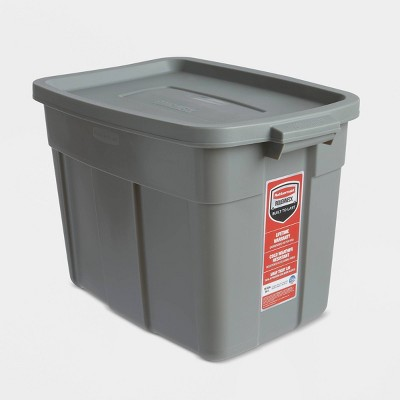 Rubbermaid 18gal Roughneck Storage Tote Gray