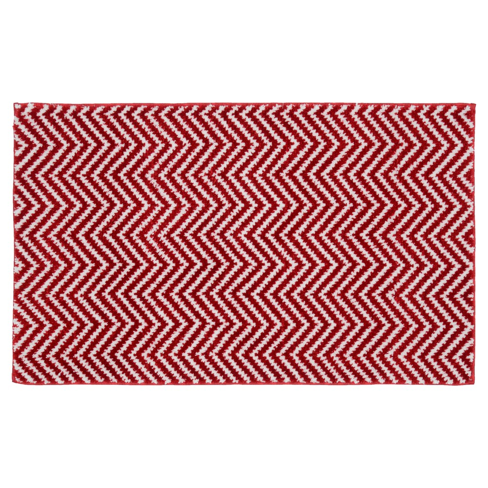 "Image of ""21""""x34"""" Palazzo Bath Rug Crimson Red - Garland Rug"""