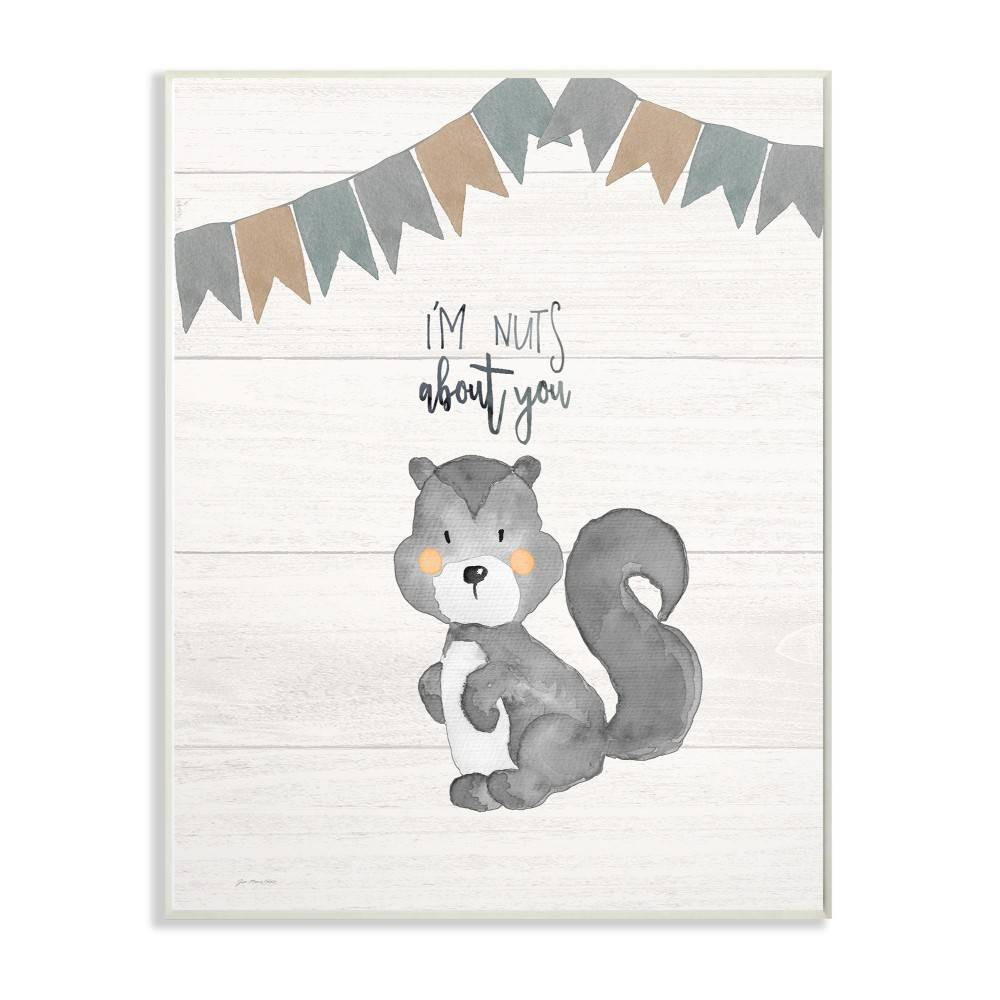 """Image of """"10""""""""x0.5""""""""x15"""""""" I'm Nuts About You Squirrel Wall Plaque Art - Stupell Industries"""""""