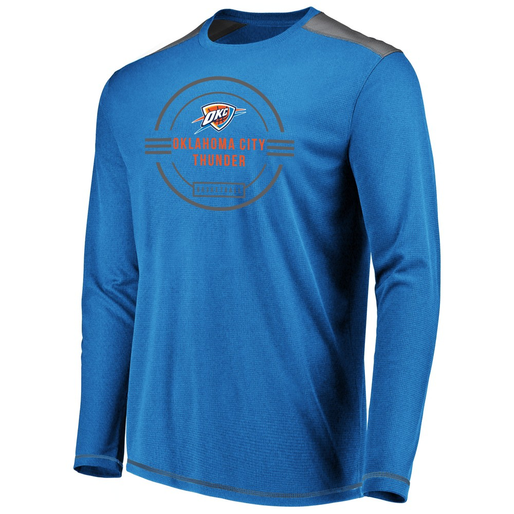 Oklahoma City Thunder Men's All Pride Long Sleeve Geo Fuse Shooting Top L, Multicolored