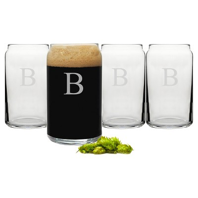 Cathy's Concepts 16 oz. Personalized Craft Beer Can Glasses (Set of 4)-B