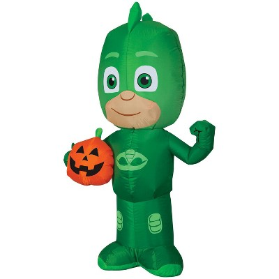 Pj Masks Airblown Gekko Jack-O' Lantern Inflatable Holiday Decoration