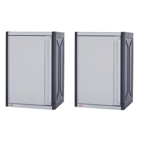 Rubbermaid FastTrack 14 x 16 x 24 Inch Garage Power Tool Locker Cabinet Kit Rail Wall Storage System (2 Pack) - image 1 of 4