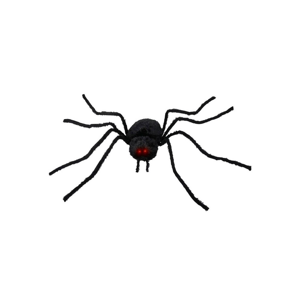 "Image of ""54"""" Animated Spider Decorative Halloween Scene Prop, Black"""