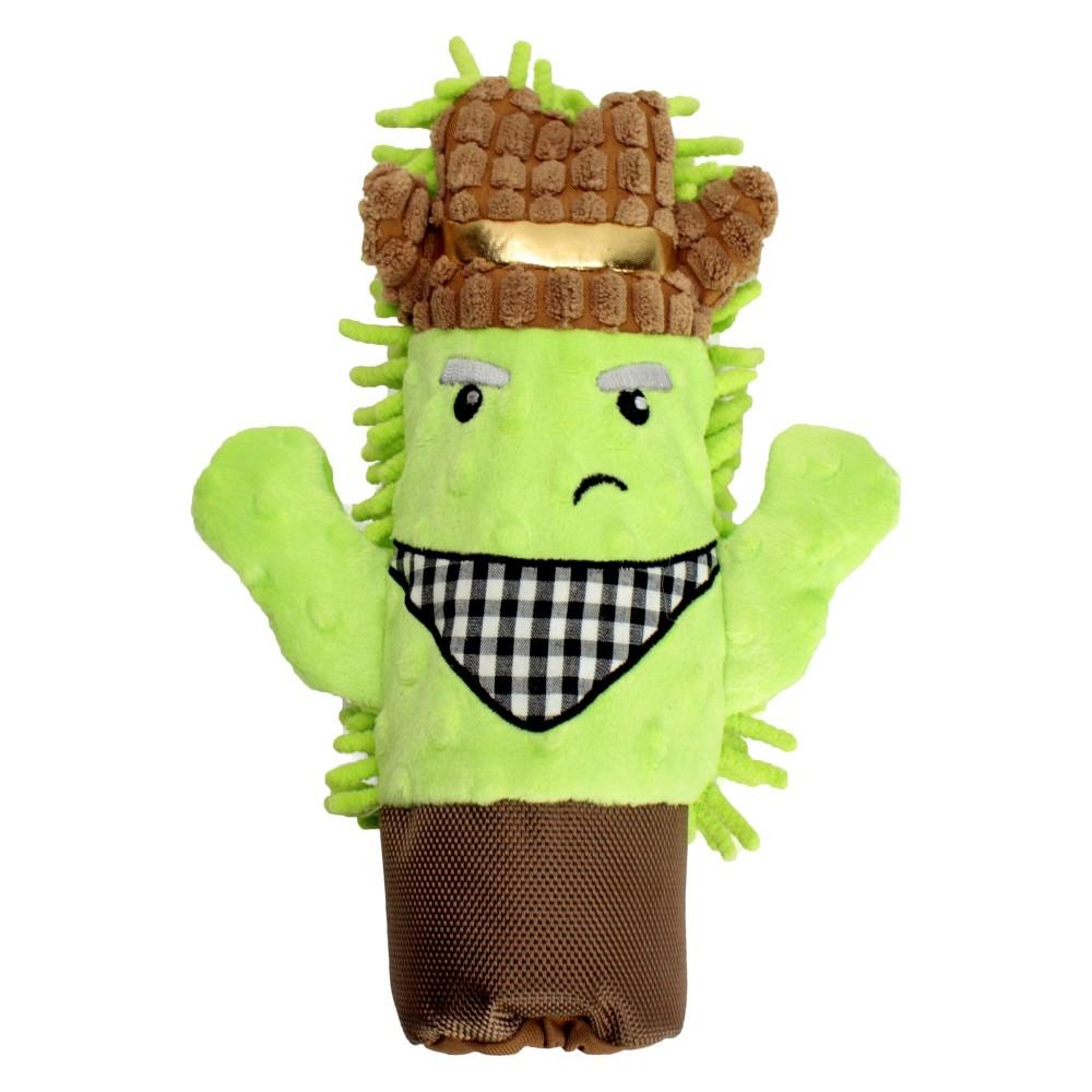 Cactus Water Bottle Cruncher Plush Dog Toy - M - Boots & Barkley, Multi-Colored