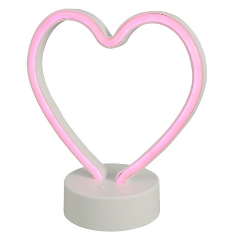 Led Neon Figural Heart Novelty Table Lamp Pink Room Essentials Target