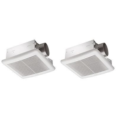 Delta Breez 70 CFM 2.0 Ceiling Mount Bathroom Fan with Humidity Sensor (2 Pack)