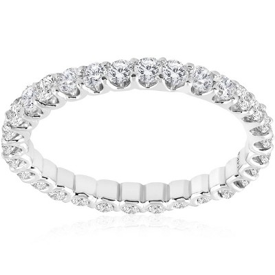 Pompeii3 1 1/2 cttw Diamond Eternity Ring U Prong 14k White Gold Wedding Band