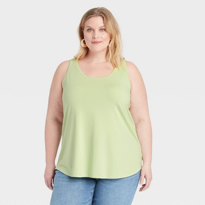 Women's Plus Size Drapey Tank Top - Ava & Viv™