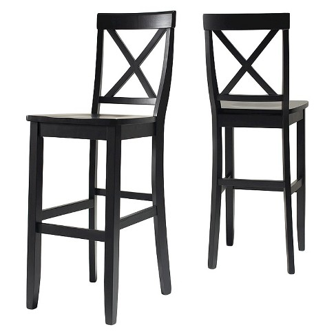 X Back 30 Bar Stool Black Set Of 2 Crosley Target