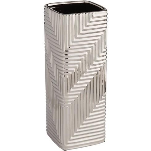 "Studio 55D Pure Silver Plating Texture 16 1/4"" High Ceramic Vase - image 1 of 4"