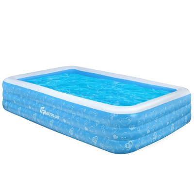 Costway Inflatable Swimming Pool 120'' x 72'' x 22'' Full-Sized Family Swimming Pool