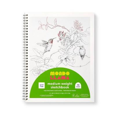 "8.5""x11"" Medium Weight Sketchbook - Mondo Llama™"