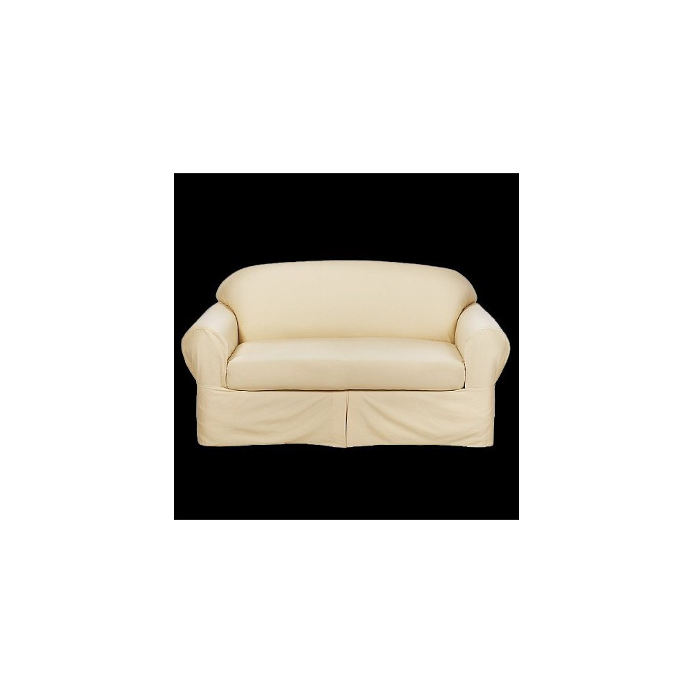 Image of 2pc Milkshake Casual Home Twill Loveseat Slipcover - Target Home, Size: 2pc Loveseat