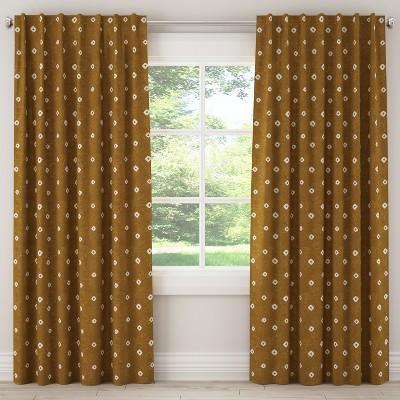 Unlined Curtain Tamara Ochre 63L - Cloth & Co.