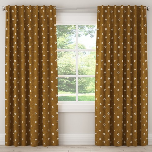 Unlined Curtain Tamara Ochre - Skyline Furniture - image 1 of 5