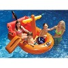 """Swimline 62"""" Inflatable Galleon Raider Pirate Ship Floating Toy - Orange/Red - image 2 of 3"""